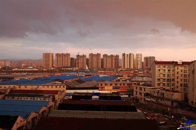 强对流风雨后的济南黄昏