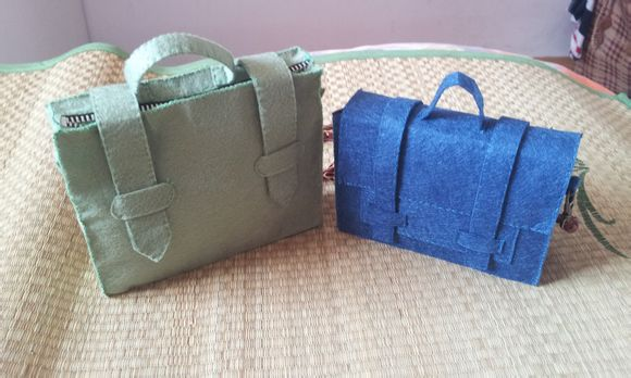 不织布手提包小挎包手工制作教程
